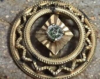 Vintage GF Art Deco Necklace Pendant