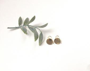 Minimalist Stud Earrings Gold Earrings Circle Earrings Drop Earrings Gifts for Her Teacher Gift Gold Minimalist Earrings Bridesmaid Earrings