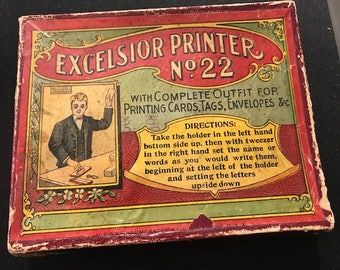 Very Early Printer's Set in Original Box (FFs1377)