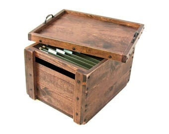 file holder filing box wooden box for files small file cabinet file - Small File Cabinet