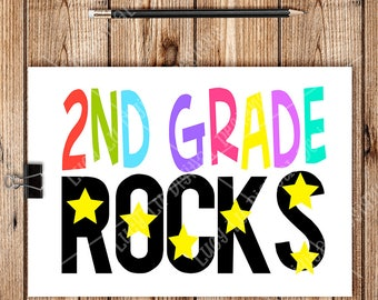 2ND GRADE ROCKS, Digital Cut Files