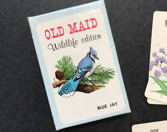 Vintage 1960's Old Maid Card Game- Wildlife Edition featuring Ranger Rick