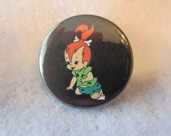 Flintstones Pin Back Button, Pebbles Pin Back Button, Flintstones Magnet, Pebbles Magnet, Fred Slintstones. Wilma Flinstone, Pebbles