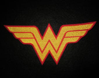 Embroidered Wonder Woman Iron On Patch, Wonder Woman, Super Hero, Wonder Woman Patch, Super Hero Patch