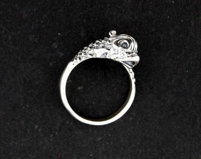 Vintage Stylized Koi Ring in Sterling Silver