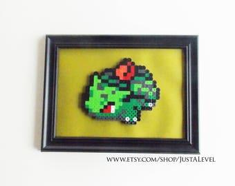 Ivysaur (Pokemon) Framed Pixel Sprite Room Decoration Art