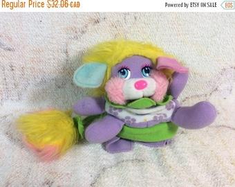 SUMMER SALE 1980s Daisy Flower Popple Puffling by Mattel Purple Original