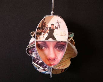 Grease Movie Album Cover Ornament - John Travolta Oliva Newton John