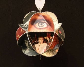 Styx Band Album Cover Ornament Made Of Record Jackets, Tommy Shaw, Dennis DeYoung