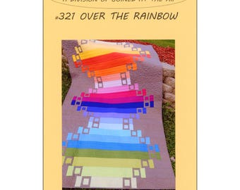Quilt Pattern Over the Rainbow by Sadie Ann Pattern Modern Quilt Pattern