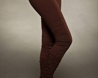 BIG SUMMER SALE 25% Off Long Ruffles Leggings - Yoga Pants - Cotton Leggings