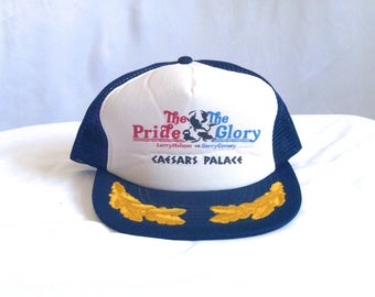 Vintage 80's The Pride and The Glory Caesar's Palace Larry Holmes Vs. Gerry Cooney Title Fight Trucker Hat