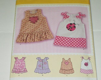 Simplicity Babies' Sewing Pattern 2235 Babies Dress Size A xxs xs s m l DIY Home Sewing Crafting Retro Fashion
