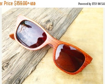 20% off SUMMER SALE WALKER2012 handmade red rosewood wooden Takemoto sunglasses glasses