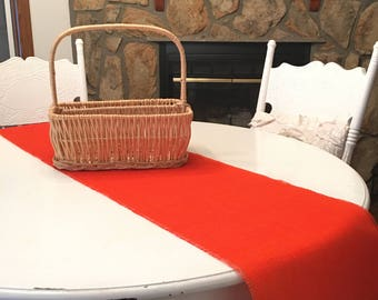 """12""""or 14"""" Wide- Tangerine (Orange) Burlap Runner - Choose Your Width and Length--Home Decor-Wedding-Receptions-Banquet"""