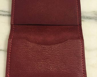 Oxblood red wallet