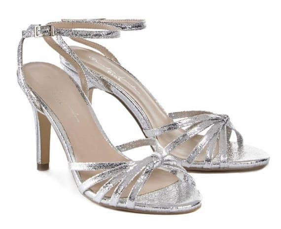 Silver Sandals Wedding Shoes Bridal