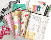 book + planner sleeve -- CHOOSE YOUR FABRIC