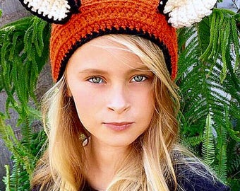 Fox Head Warmer - Ear Warmer - Headband - Animal - Christmas Gift - Women - Girls - Fallon The Fox