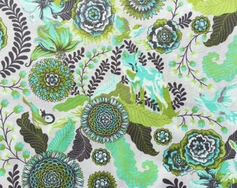 Fox Field Foxtrot green Tula Pink fabric FQ or more OOP HTF