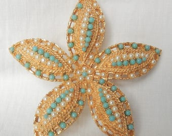 Ocean Star brooch by Sarah Coventry