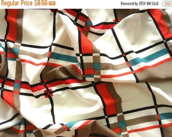 ON SALE Crepe Fabric - Check Print - PCR063 - 1 yard