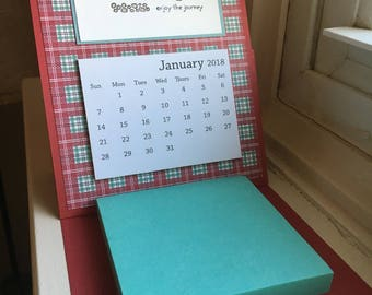 Desktop Calendar and Sticky Notepad Set