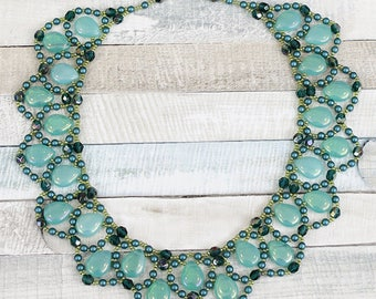 Necklace beading pattern for the verdin necklace