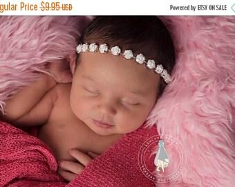 ON SALE Vintage style rose halo headband, newborn headband, baby headband, newborn photography prop