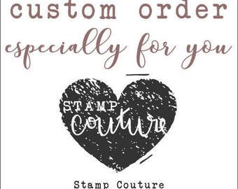 Custom Order for Devyn: The Well Dressed Cookie stamp