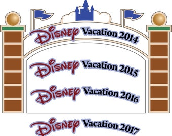 SVG/JPG/PNG Disney Cut Files entry gate/sign for scrapbooking-2014-2017