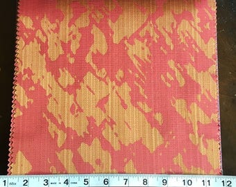 Custom Curtains Valance Roman Shade Shower Curtains in Red / Orange Abstract Pattern Fabric