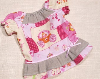 Waldorf Doll Clothes-Cotton/Linen peasant dress ,fit 15- 16 inch dolls