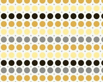 Andrea Victoria Dots Gold by My Mind's Eye for Riley Blake, 1/2 yard fabric