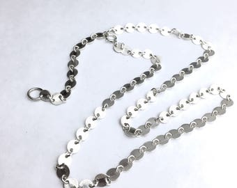 Coin Chain Choker Sterling 4mm Disc Sequin