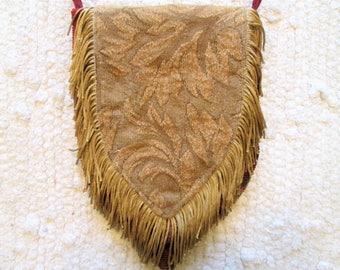 Small Boho Gypsy Tapestry Fringe Cross Body Cell Phone Bag