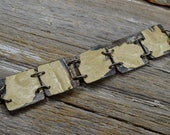 """Upcyced Antique Ceiling Tin into """"Salvaged"""" In White Stuff Cuff Bracelet - ReaganJuel: Tin21"""