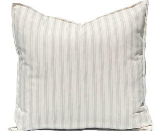 Ticking Pillow Cover - Farmhouse Decor - Decorative Pillow Covers - French Ticking Stripe Pillow Cover - Sofa Pillows - Farmhouse Pillow