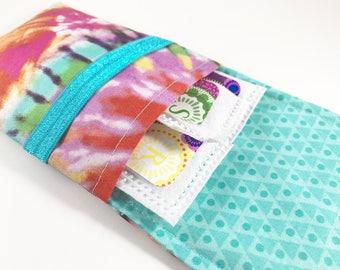Tampon Case, Tampon Holder, Tampon Wallet - Tie Dye