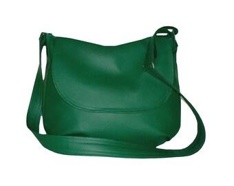 5402, dark green messenger bag, dark gren crossbody bag, green hobo bag, vegan leather hobo bag green, vegan leather crossbody bag green