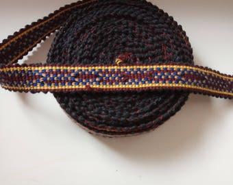 Uzbek cotton woven trim Jiyak. Ethnic Boho trim. NTR048