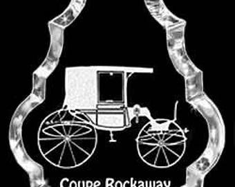 Carriage Coupe-Rockaway Gift Crystal Necklace Pendant Jewelry or Suncatcher Custom with any Animal or Name YOU Want, Rodeo, Ranch, FFA, Farm
