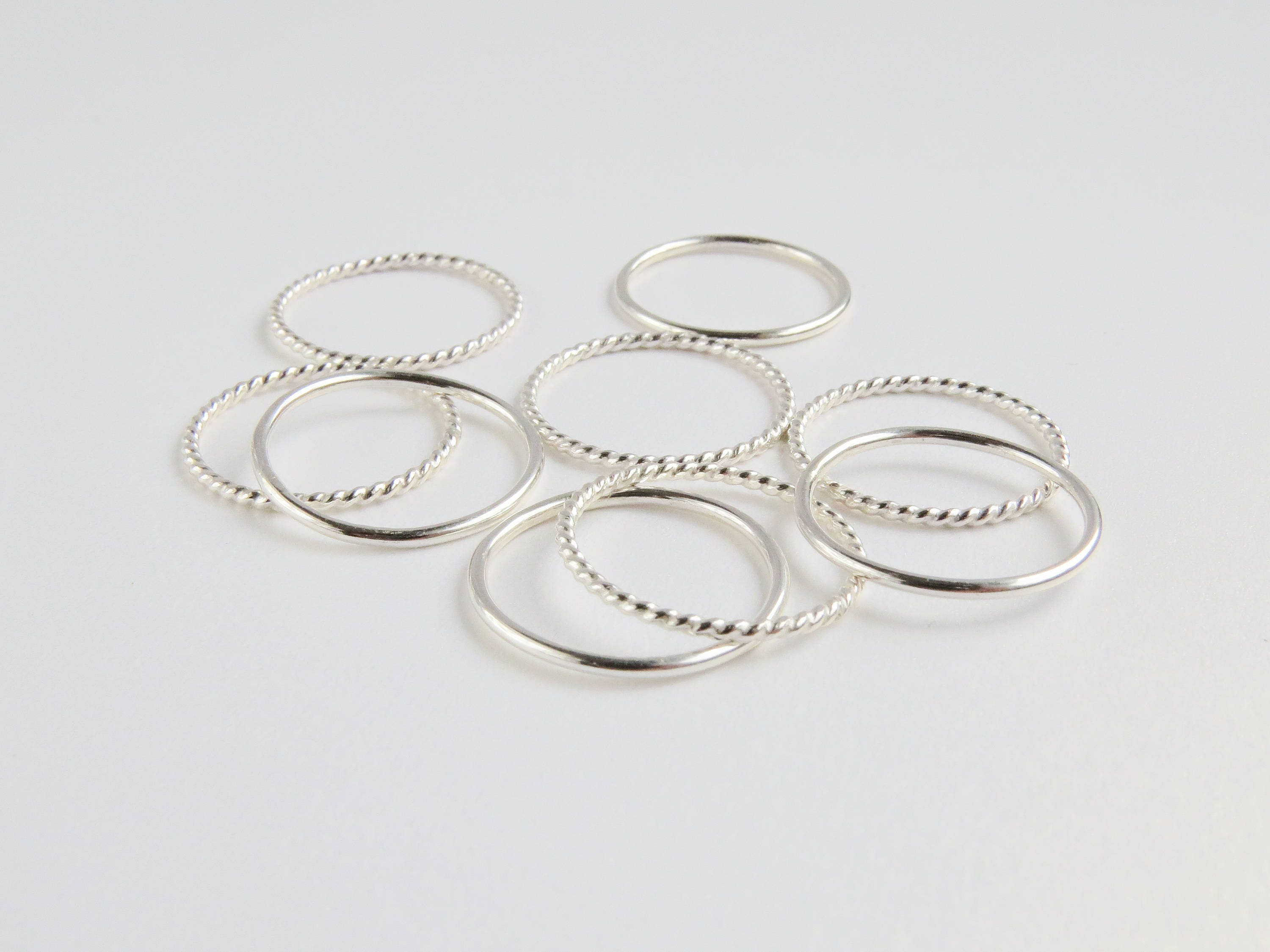 Layering Rings Simple Silver Ring Silver Ring Stacking