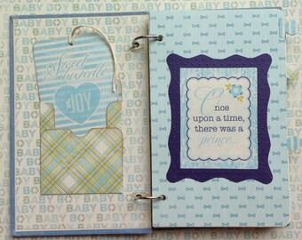 Handmade Baby Boy Journal/Keepsake Album/Baby Shower Gift