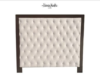 Tufted Headboard Upholstered Queen Murphy Bed Any Fabric Queen Extra Tall CExtra Tall Banded Headboard CUSTOM ORDER ROb