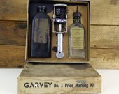 Garvey No. 1 Price Marking Kit / Vintage Rubber Stamp / Pricing Gun / General Store decor