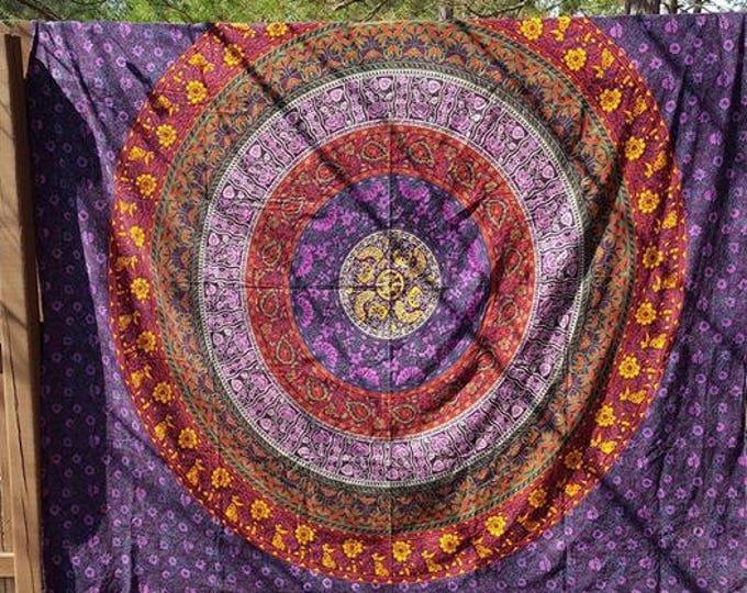 Traditional Mandala Tapestry Boho Hippie Tapestry Wall Hanging Beach Blanket Yoga Meditation Mat Dorm Decor Music Festival