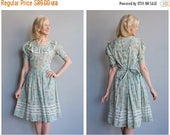 Sale 1930s Dress // Flower Sack Dress // vintage 30s dress