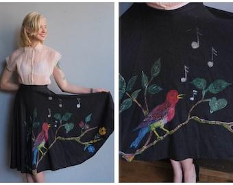 1950s Skirt // Rockin' Robin Circle Skirt // vintage 50s skirt