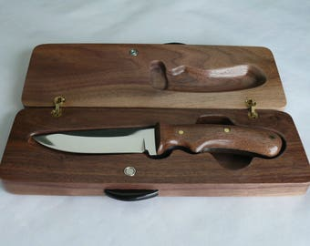 Steel Knife with Walnut Case, Item 516